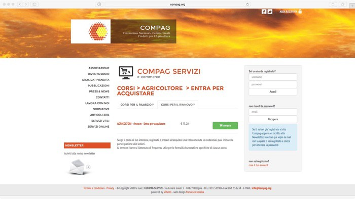 e-learning, acquistabile on-line dal sito Compag